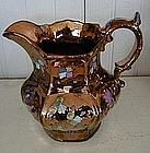 English Copper Lustre Jug, c. 1830
