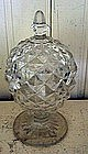 Early American Clear Glass Footed Master Salt, c. 1860