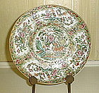 Chinese Export Porcelain Rose Canton Plate, c. 1850