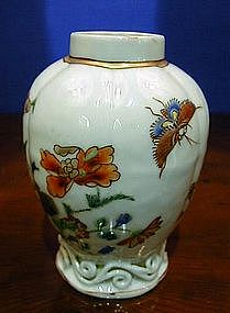 Chinese Export Porcelain Tea Caddy, c. 1840
