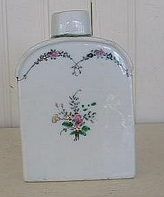 Chinese Export Porcelain Tea Canister, c. 1780