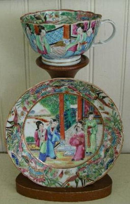 Chinese Export Famille Rose Cup and Saucer, c. 1830
