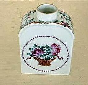 Chinese Export Famille Rose Tea Canister, c. 1820