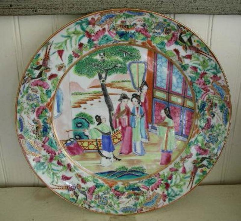 Chinese Export Famille Rose Dinner Plate, c. 1830