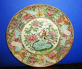 Chinese Export Porcelain Famille Rose Plate, c. 1830-40