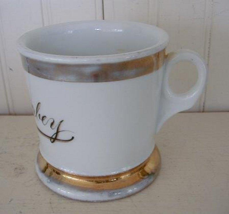German KPM Porcelain Shaving Mug, c. 1915