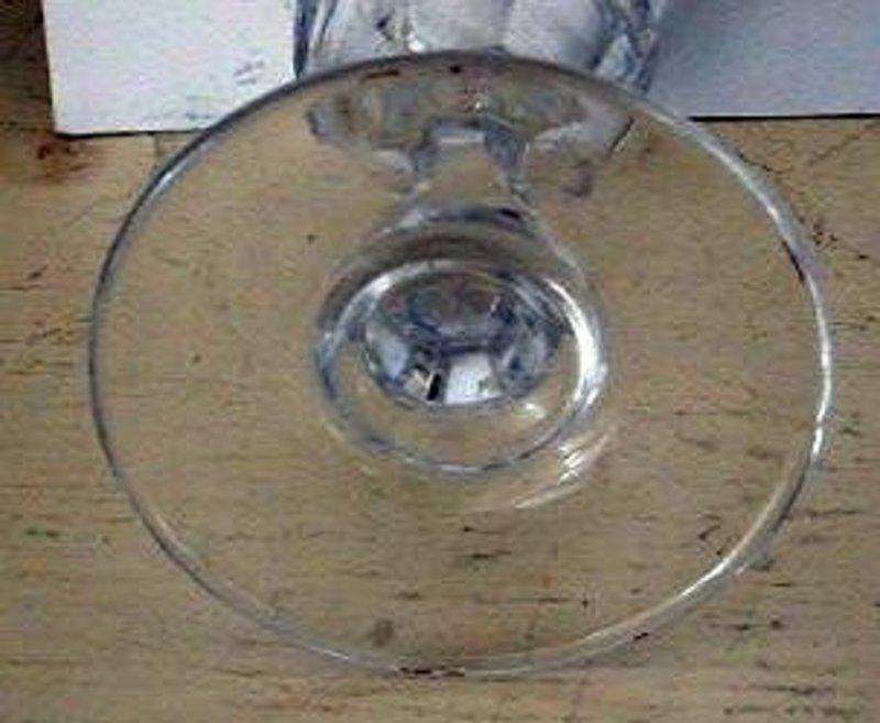 Early American Blown Flint Glass Wine, c. 1840