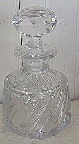 French Baccarat Cut Glass Perfume Bottle, c. 1920