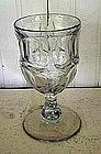 Early American Flint Glass Goblet, c. 1840