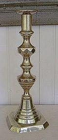 English Brass Candlestick, c, 1820-40