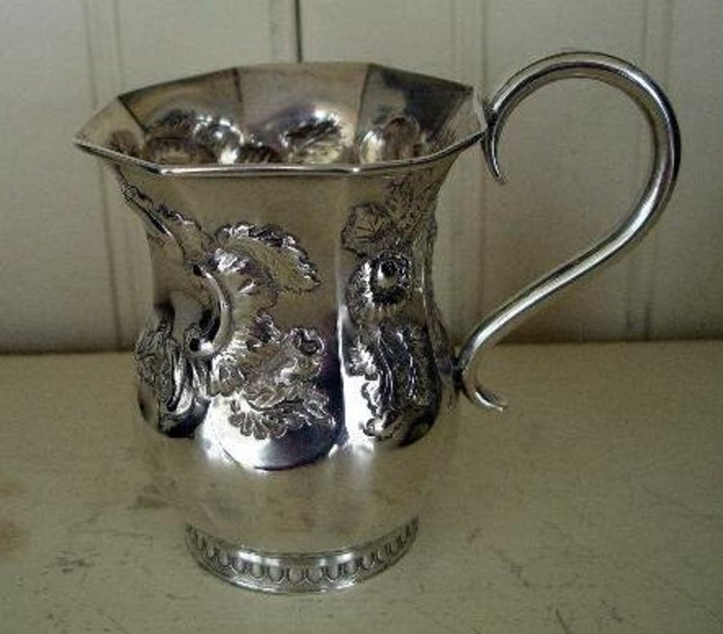 Early Philadelphia Silver Child's Cup, dated 8-29-1849