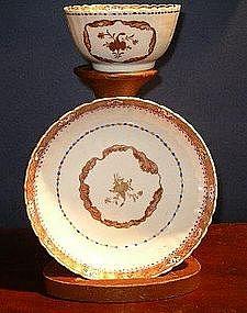 Chinese Export Porcelain Tea Bowl & Saucer, c. 1770