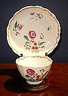 Chinese Export Porcelain Tea Bowl & Saucer, c. 1770