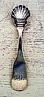 Early Philadelphia Pa. Silver Salt Spoon 1830, Quandale