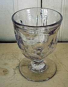 American Flint Glass Egg Cup, c. 1840, Ashburton