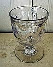 American Flint Glass Egg Cup, c. 1840, Ashburton