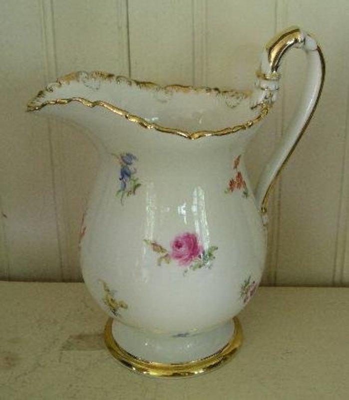 German Meissen Porcelain Milk Jug, c. 1880