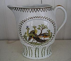 English Pearlware Prattware Jug, c. 1790