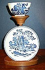 English Blue & White Liverpool Tea Bowl & Saucer, 1780