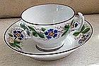 English New Hall Bone China Cup & Saucer, c. 1820