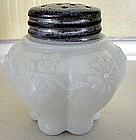 American White Milk Glass Mold Blown Salt Shaker, 1894