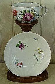 German Meissen Tea Cup & Saucer, c. 1850