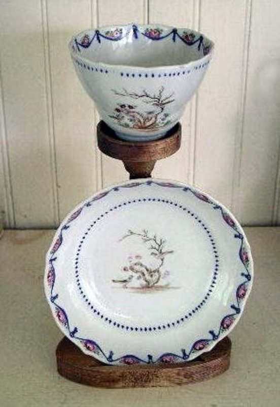 Chinese Export Famille Rose Cup & Saucer, c. 1780