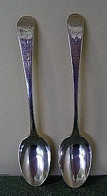 Pair of London Sterling Silver Spoons, dated 1791