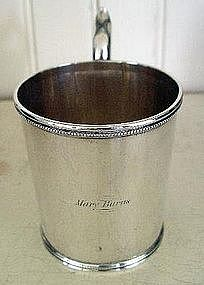American Gorham Coin Silver Child's Cup, c. 1840