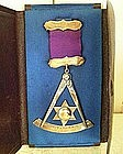 14k Gold & Sterling Masonic Past Master Jewel, 1904