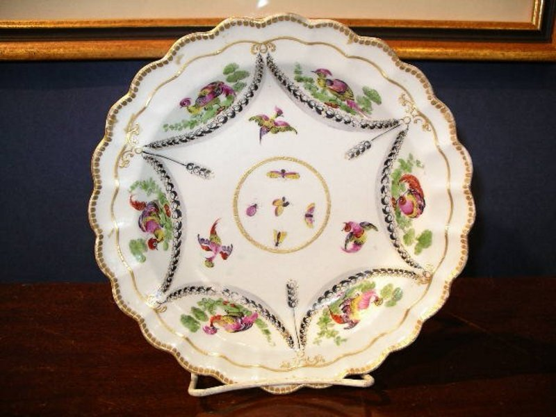English Worcester Porcelain Deep Plate, c. 1770