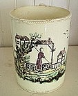 William Greatbatch Handpainted Creamware Mug 1775