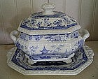 Minton Covered Sauce Tureen & Underplate, c. 1827