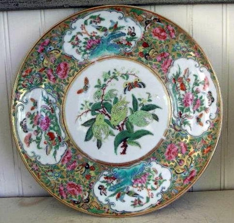 Chinese Export Rose Canton Plate, c. 1830