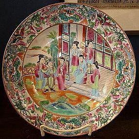 Chinese Export Porcelain Famille Rose Soup Bowl 1830