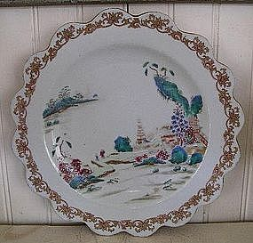 Chinese Export Porcelain Famille Rose Plate, c. 1750