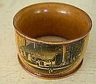 Scottish Mauchline Ware Sycamore Napkin Ring, c. 1850