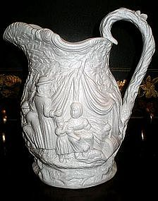 "English Moulded Staffordshire ""Gipsey"" Jug, 1842"