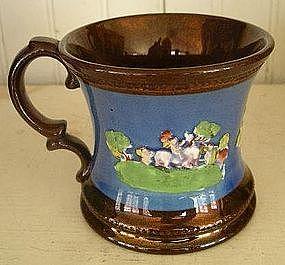 English Copper Lustre Mug, c. 1840
