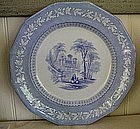 English Staffordshire Blue & White Transfer Plate 1845