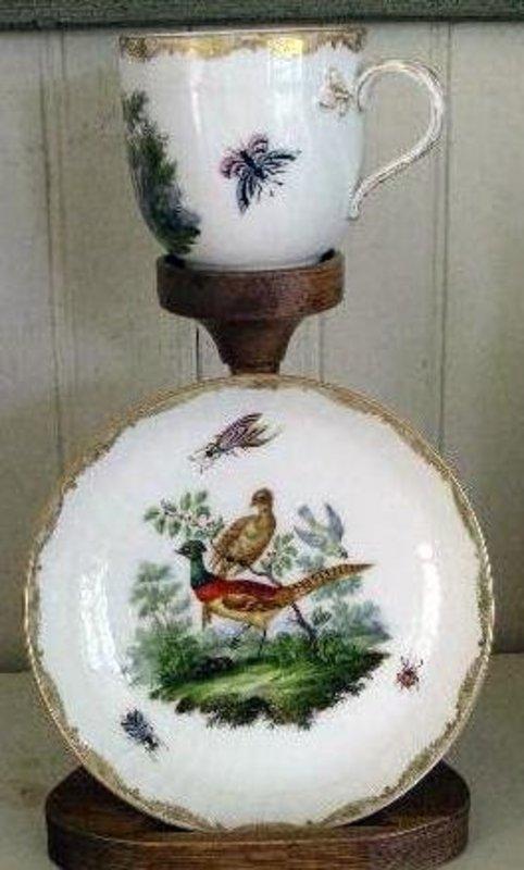 Royal Berlin Porcelain Tea Cup & Saucer, c. 1775