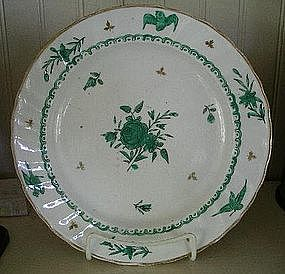 English Chelsea Derby Porcelain Plate, c. 1770