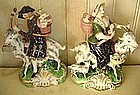 Pair of English Derby Porcelain Figure Groups, c. 1780