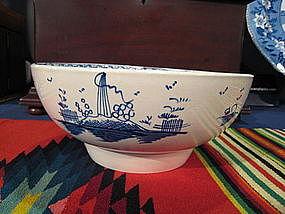 English Liverpool Porcelain Blue & White Bowl, c. 1780