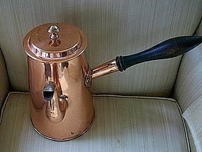 English Copper Coffee Pot, c. 1790