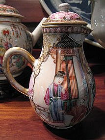 Chinese Export Famille Rose Sparrow Beak Creamer 1770