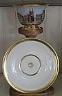 German Furstenberg Porcelain Cabinet Cup & Saucer, 1877