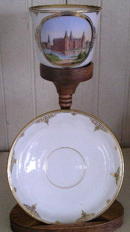 Rare Danish Royal Copenhagen Cup & Saucer, early 19th C