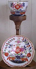 German Meissen Porcelain Demi-Tasse Cup & Saucer 1860