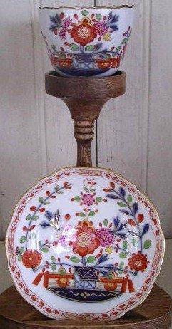 German Meissen Porcelain Demi-Tasse Cup & Saucer 1830
